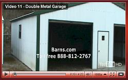 metal garage view